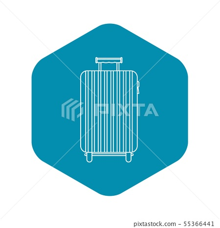 Suitcase on wheels icon, outline style 55366441