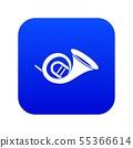 French horn icon digital blue 55366614