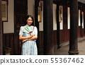 woman, asian, fan 55367462
