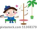 鳥咖啡館1(鸚鵡和女孩) 55368379