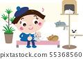 貓咖啡館7(貓和女孩) 55368560