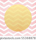Greeting card template. Gold glitter foil dots confetti on striped white and pink background. EPS 10 55368878