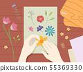 Hands Press Flower Illustration 55369330
