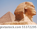 The great Sphinx in Cairo, Giza, Egypt 55372295