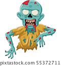 Cartoon zombie isolated on white background 55372711