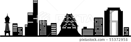 Osaka silhouette (transparent specification) 55372958