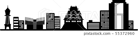 Osaka silhouette (transparent specification) 55372960