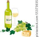 白葡萄酒和奶酪 55373635