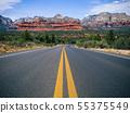 Driving in Sedona, Arizona towards Mescal Mountain 55375549