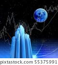 달과 고층 빌딩 미래 도시와 부동산 투자 55375991