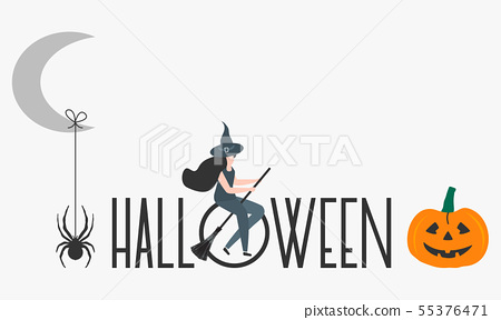 Creepy elements for Halloween 2020 Party card 55376471
