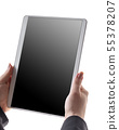 woman holds tablet in hands 55378207