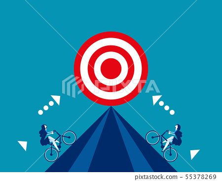 Business competition for target. Concept business 55378269
