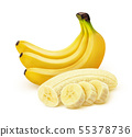 Banana isolated on white background with clipping path 55378736
