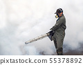 The man fogging to eliminate mosquito 55378892