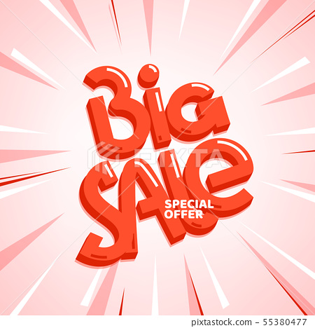 Big sale special offer. Vector lettering 55380477