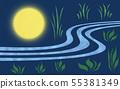 Full moon illuminating grassland (3) 55381349