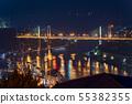 [Hiroshima Prefecture] Night view of Onomichi city 55382355