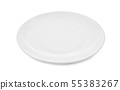 white plate isolated on white background 55383267