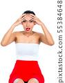 Woman suffering from headache 55384648