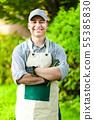 Portrait of a professional gardener 55385830