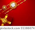 Raksha Bandhan red background. 55386074