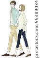 산책을하는 남녀 - 부부 · 커플 55389034