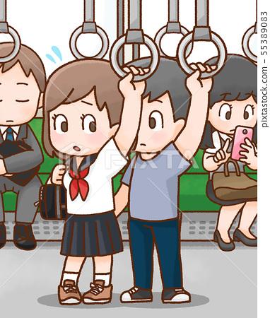 Crime illustration 55389083