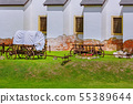 Covered Wagon in the Courtyard 55389644
