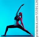woman yoga exercices 55391126