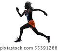 Silhouette, Woman, Jogger 55391266