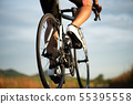 Man cycling road bike in the morning.  55395558