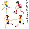 Set of different sporting people 55395686