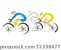 Three sport road cyclists. 55398477