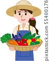 여름 야채 수확 55400176