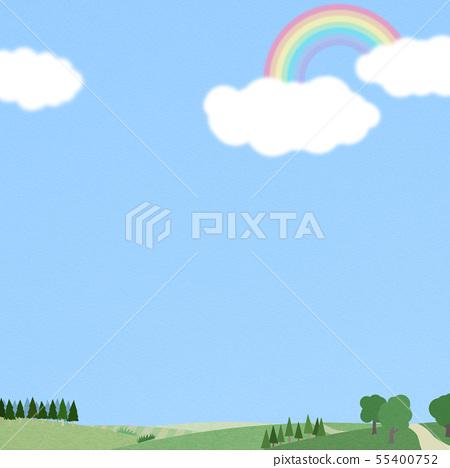 背景 - 天空 - 雲 - 彩虹 - 景觀 55400752