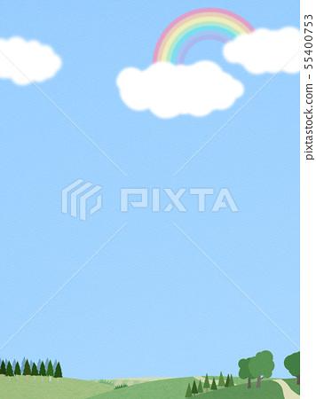 背景 - 天空 - 雲 - 彩虹 - 景觀 55400753