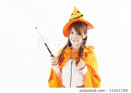 A woman in Halloween 55401799