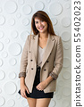 Full length image of Asian businesswoman.. 55402023