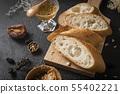 프랑스 빵과 꿀, 땅콩 버터 55402221