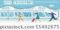 Public Transport Online Service Vector Website 55402675