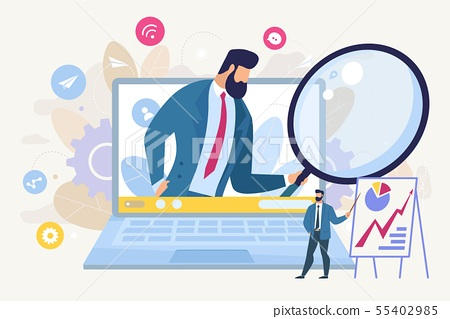 Searching for Business Idea Flat Vector Concept 55402985