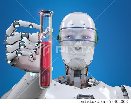 cyborg holding test tube 55403008