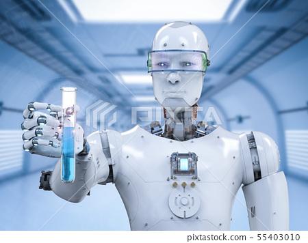 cyborg holding test tube 55403010