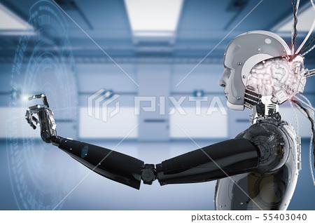 robot working with virtual display 55403040