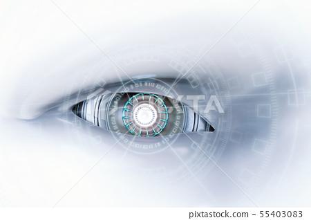 cyborg eye with virtual display 55403083