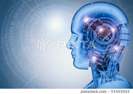 robot with virtual display 55403085