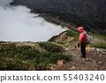 Mountainous landscape (bad weather) 55403240