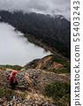 Mountainous landscape (bad weather) 55403243