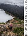 Mountainous landscape (bad weather) 55403245